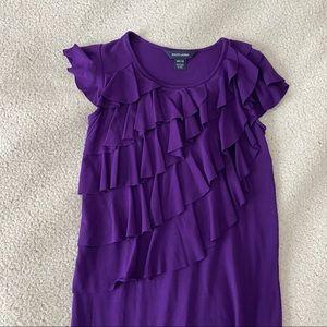 Ralph Lauren ruffle purple dress